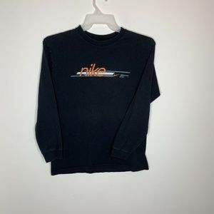 Nike Athletics Womens XL Black Big Spellout Orange
